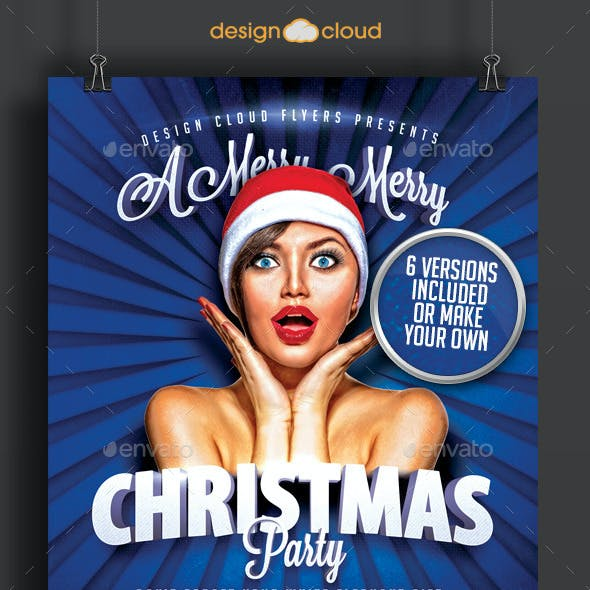 Hip Christmas Party Flyer Template Collection