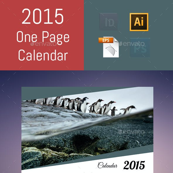 2015 One Page Calendar
