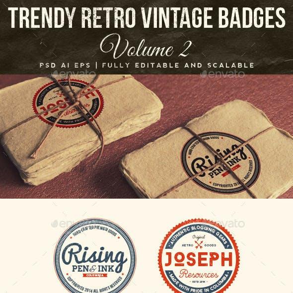 Trendy Retro Vintage Badges Volume 2