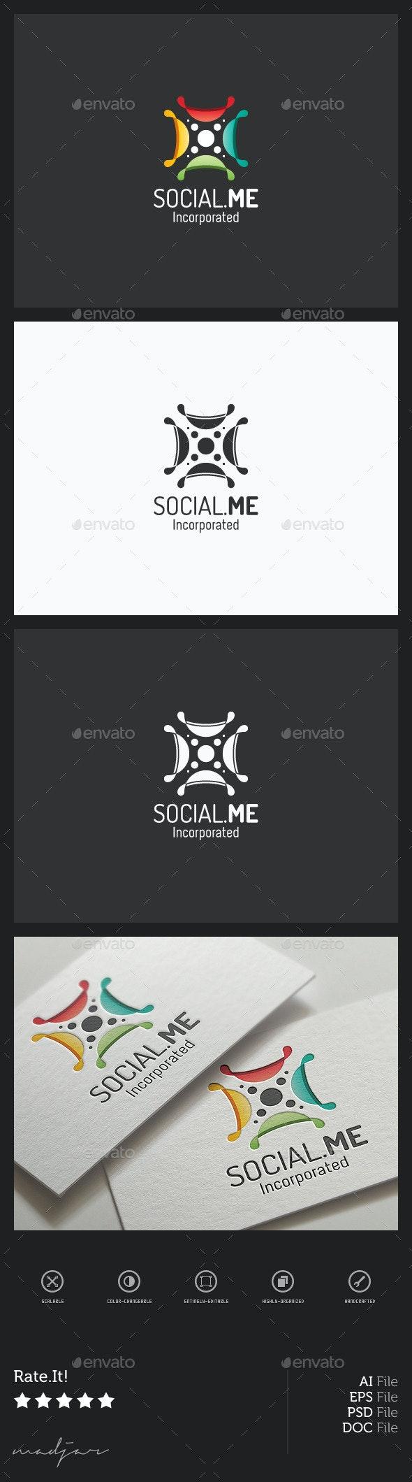 Social Logo - Vector Abstract