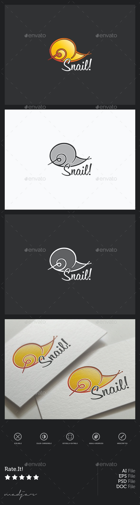 Snail Logo - Animals Logo Templates