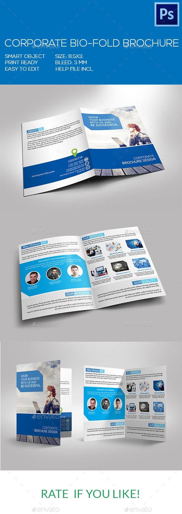 Corporate Bio-Fold Brochure - Corporate Brochures