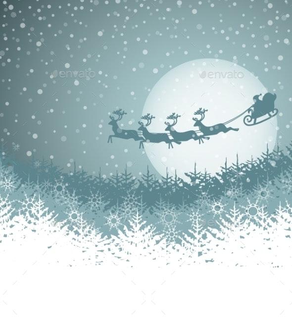 Christmas Landscape - Christmas Seasons/Holidays