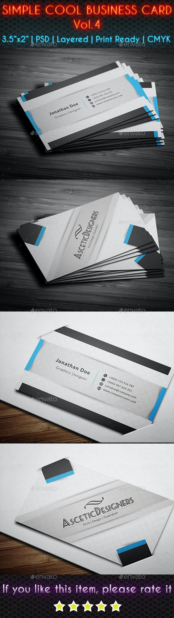 Simple Cool Business Card Vol.4 - Creative Business Cards