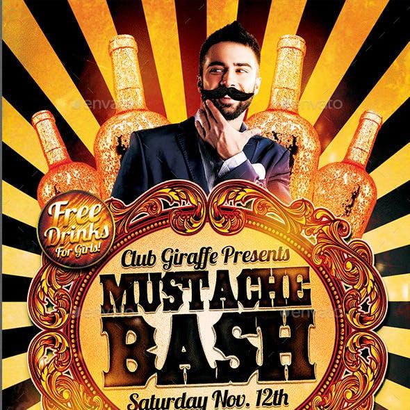 Mustache Bash Flyer Template
