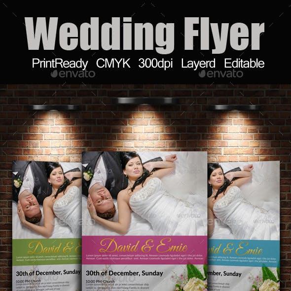 A4 Wedding Flyer