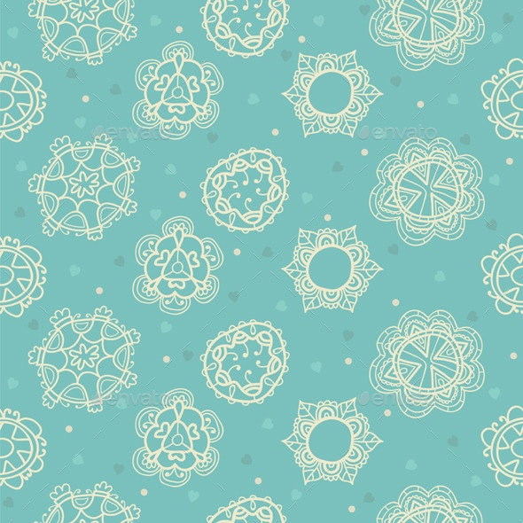 Floral Ornamental Seamless Pattern - Patterns Decorative