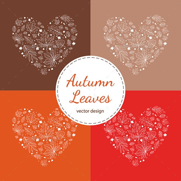 Autumn Postcard Vector Design - Seasons Nature