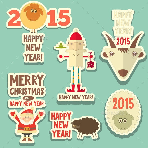 Christmas Stickers - Christmas Seasons/Holidays