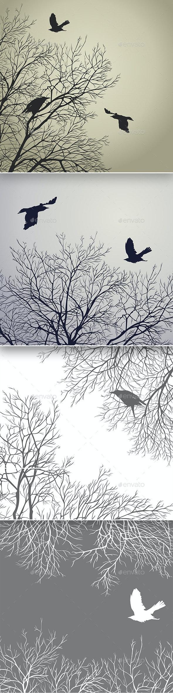 Winter Birds - Animals Characters