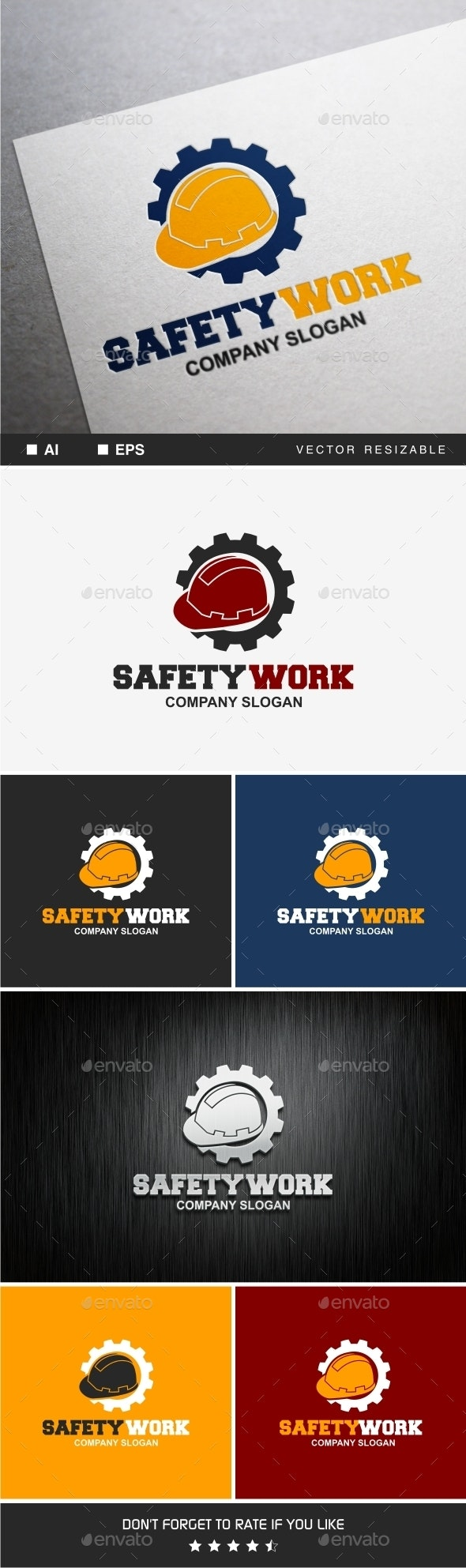 Safety Work - Objects Logo Templates