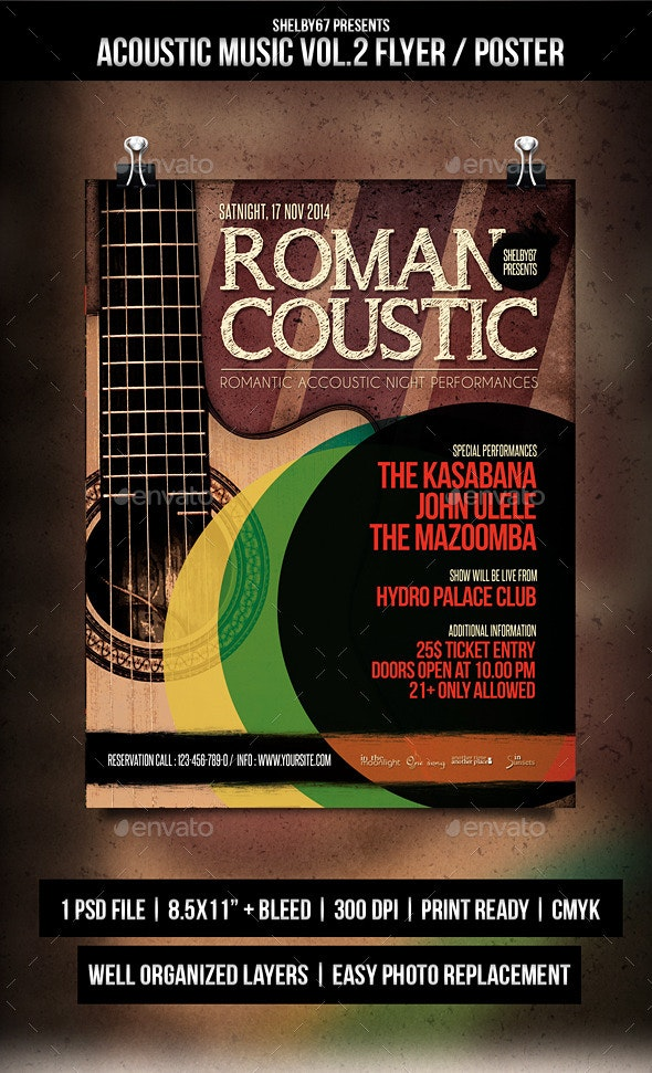 Acoustic Music Flyer / Poster Vol.2 - Events Flyers