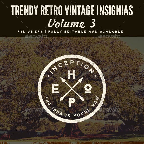 Trendy Retro Vintage Insignias Volume 3