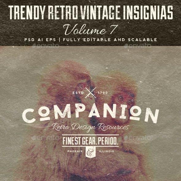 Trendy Retro Vintage Insignias Volume 7