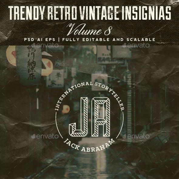 Trendy Retro Vintage Insignias Volume 8