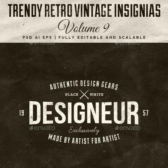 Trendy Retro Vintage Insignias Volume 9