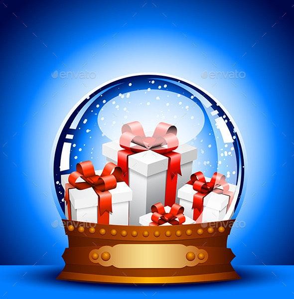 Christmas Glass Ball - Christmas Seasons/Holidays