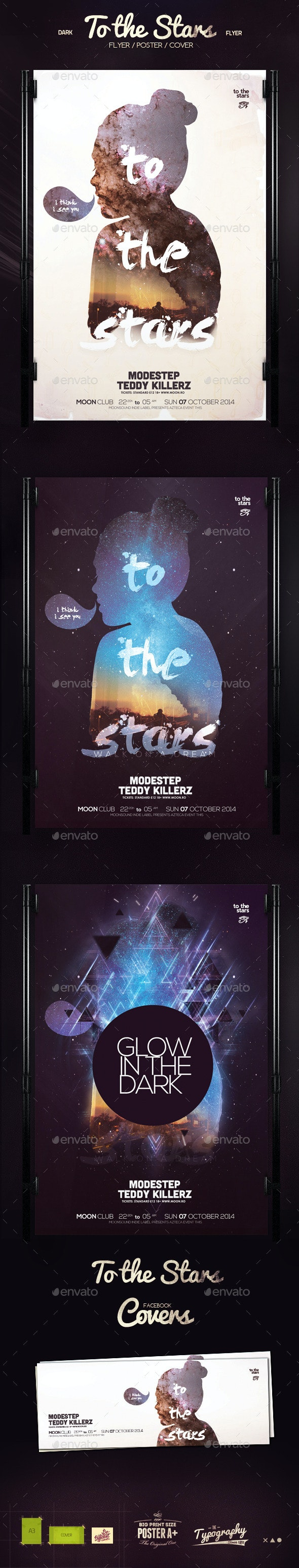 To the Stars Poster - Clubs & Parties Events