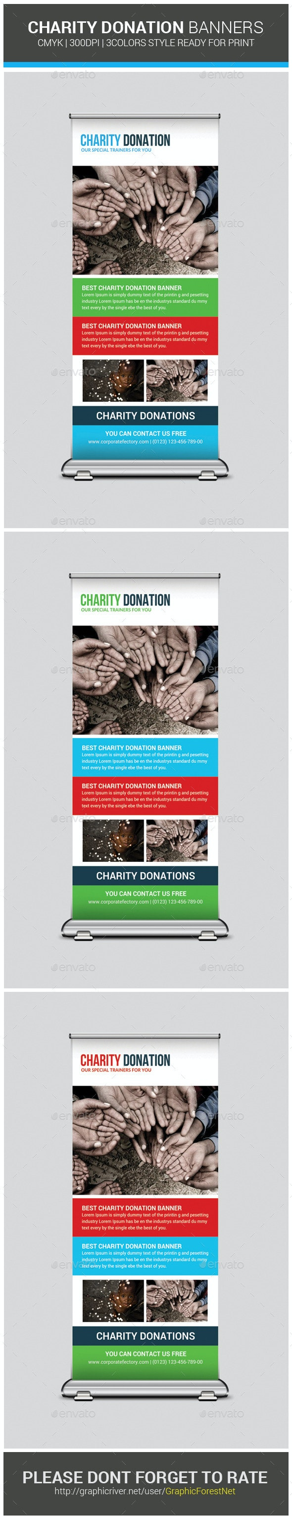 Charity Donation Banners Template - Signage Print Templates