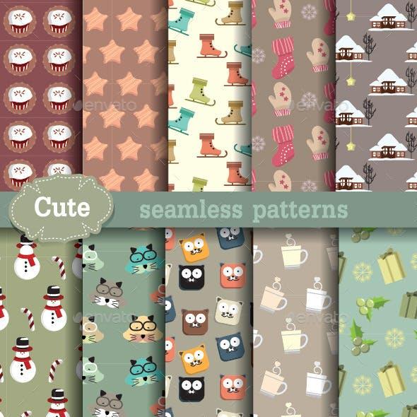 Cartoon Seamless Patterns