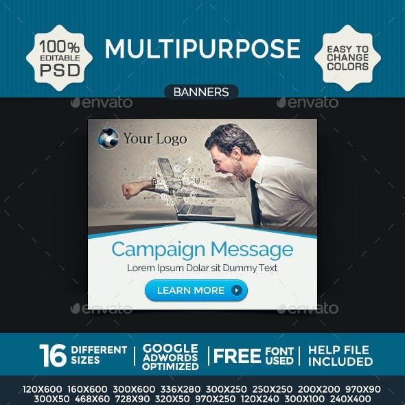 Multi Purpose Banner Design Set