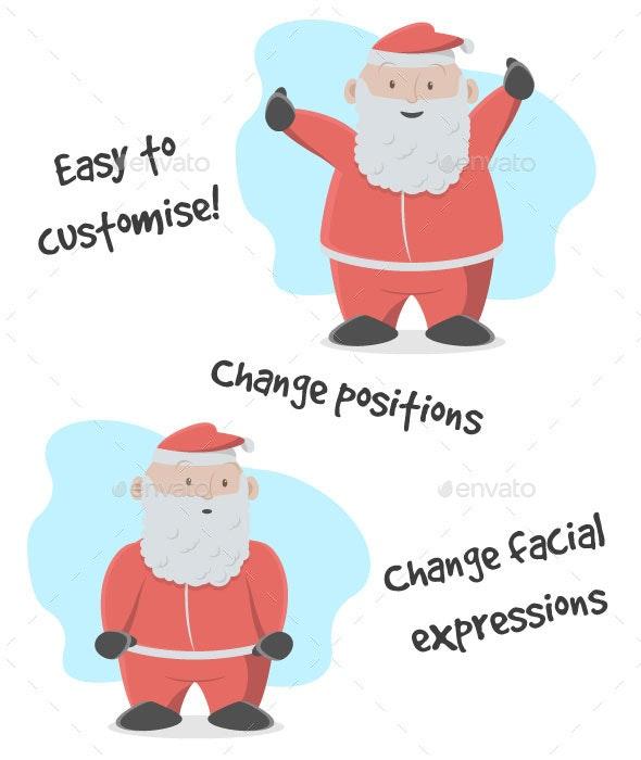 Happy Santa at Christmas Time - Christmas Seasons/Holidays