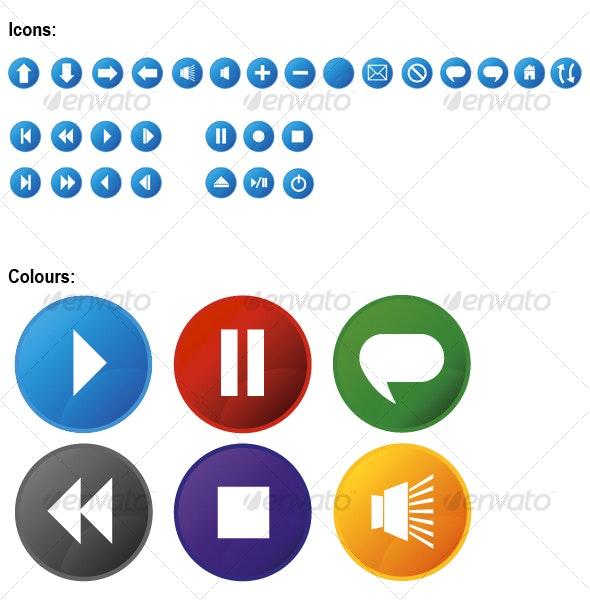 Wave Icon Set - Web Technology