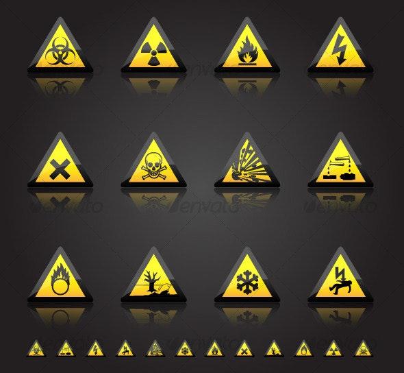 Hazard Warnings - Man-made objects Objects