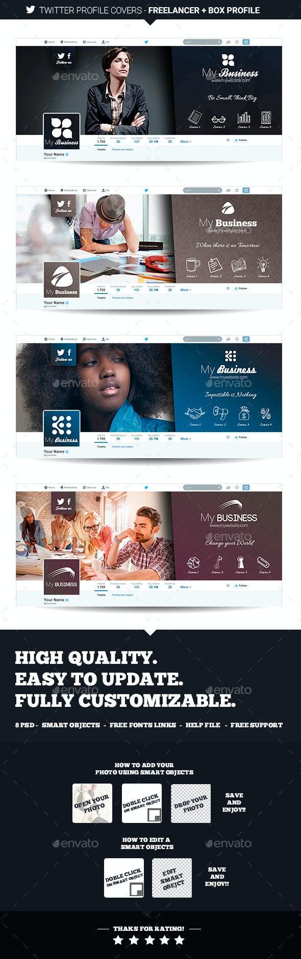 Twitter Profile Covers - Freelancer - Twitter Social Media