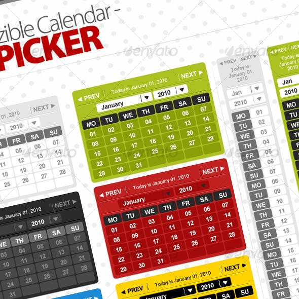 Totally Resizible Calendar - Date picker