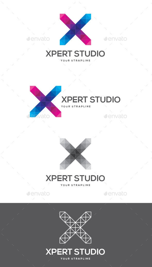 Xpert Studio Letter X Logo - Letters Logo Templates