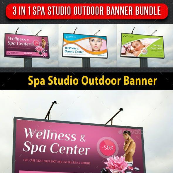 3 in 1 Spa Studio Outdoor Banner Bundle