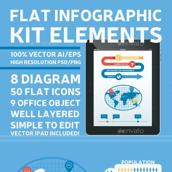 Flat Infographic Kit Elements