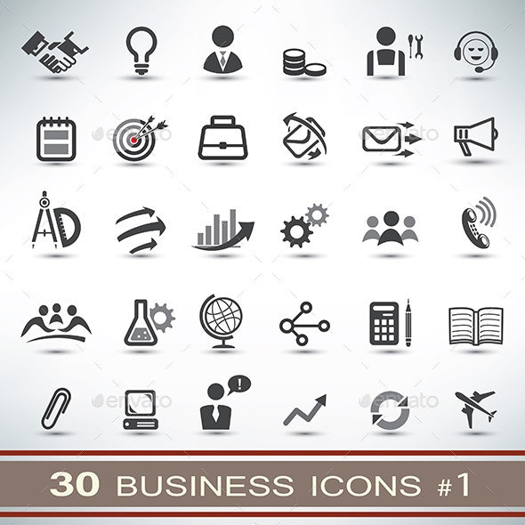 30 Business Icons Set - Business Icons