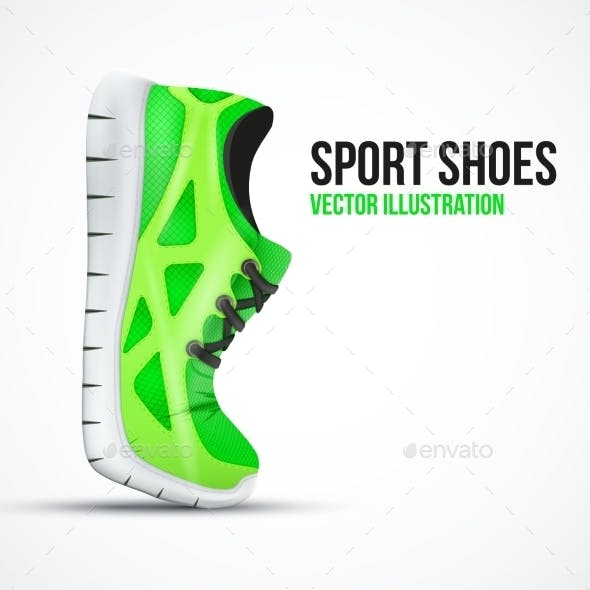 Running Curved Green Shoes