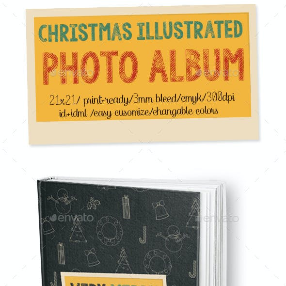 Christmas Illustrated Photo Album