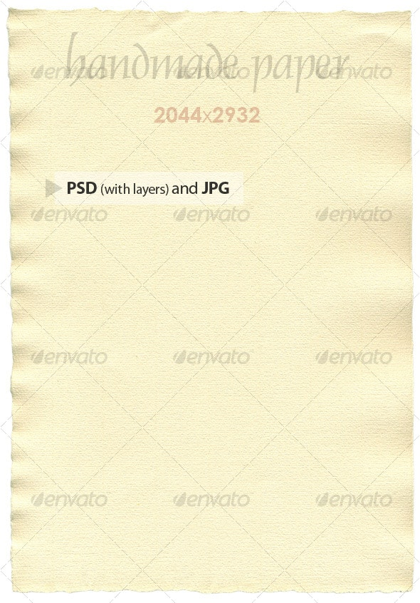 Handmade Paper - Paper Textures