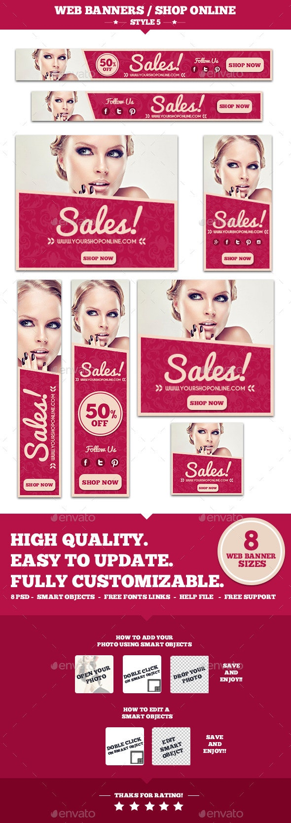 Web Banners Shop Online Style 5 - Banners & Ads Web Elements
