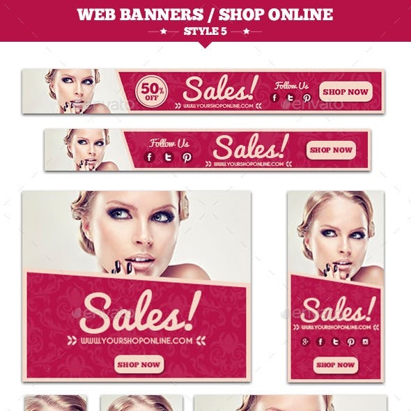 Web Banners Shop Online Style 5