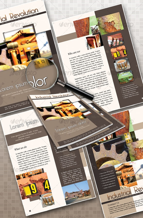 4 Pages Industrial Brochure - Corporate Brochures