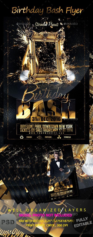 Birthday Bash Flyer - Events Flyers