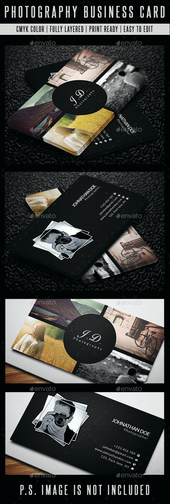 Photography Business Card - Business Cards Print Templates
