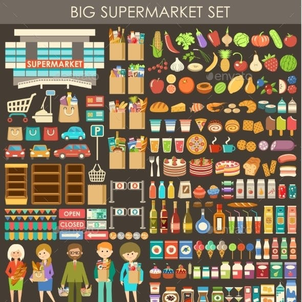 Big Supermarket Set.
