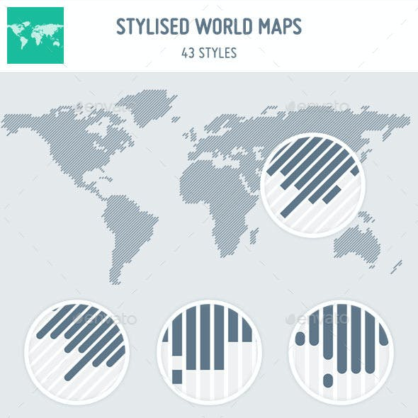 43 Stylised World Maps