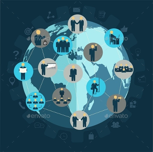 Social Networking Business People - Concepts Business