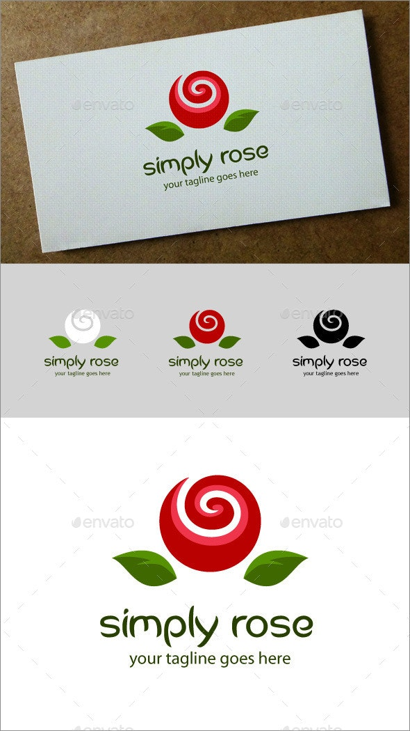 Simply Rose Logo - Nature Logo Templates