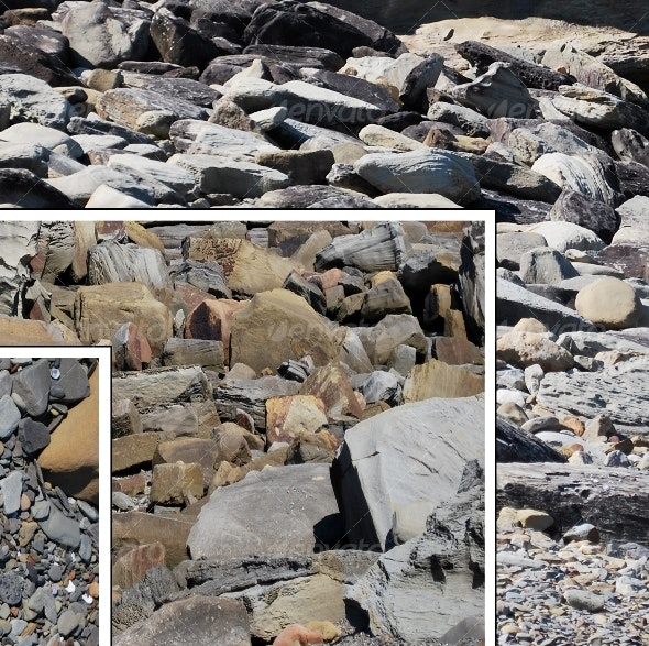 Weathered pebbles and stones - Stone Textures