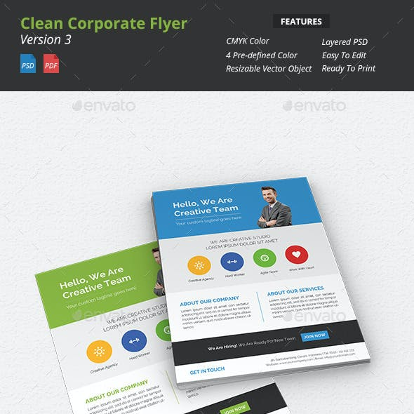 Clean Corporate Flyer v3