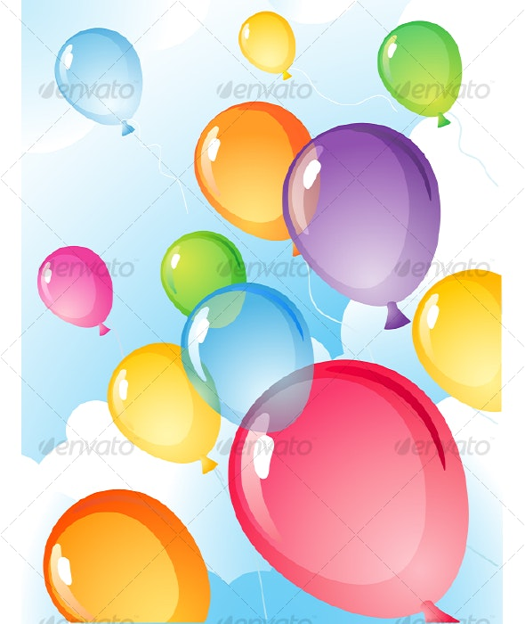 Balloons - Backgrounds Decorative