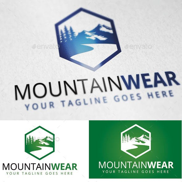 Mountain Wear Logo Template